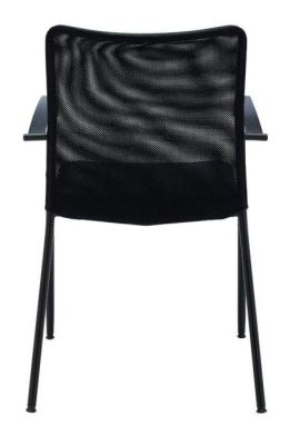 Bostromi Mesh Conference Chair From Behind In Black
