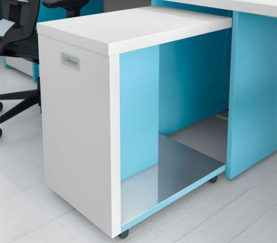Extension Cupboard White And Bluebell