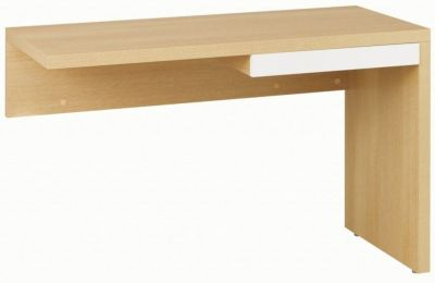Silver Universal Desk Return Including Pencil Drawer In A Grained Oak Finish