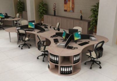 Spacious Office Using Avalon Furniture In Light Oak
