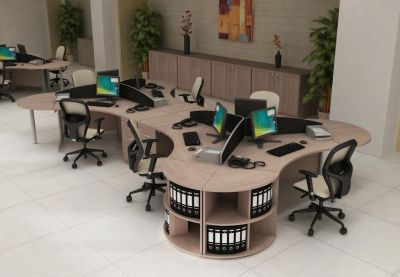 Avalon Furniture Exutive Office Layout In Light Oak