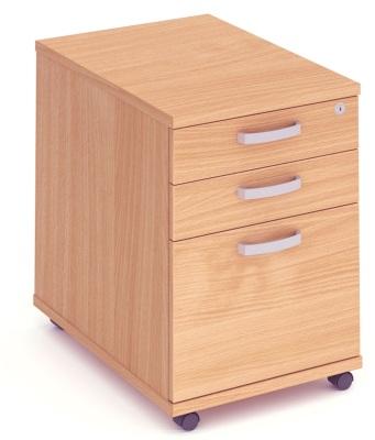 Mansfield Mobile 3 Drawer Pedestal