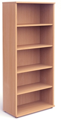 Mansfield 2000mm High Bookcase In Beech