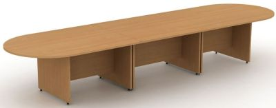 Avalon Sectional Side Panel Table Free Standing That Can Be Put Together To Form A Large Meeting Table In Beech