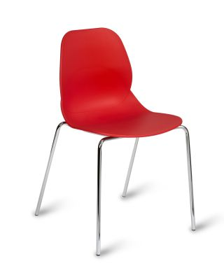 Mackie Four Leg Poly Chair Red