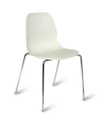 Mackie Four Leg Poly Chair White