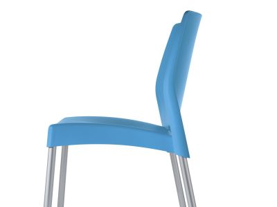 Solar Blue Outdoor Plastic Chairs