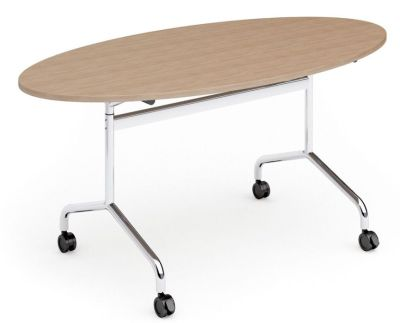 Tamar Oval Flip Top Table With Castors