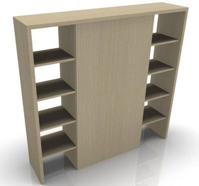 Odessa Designer Bookcase With Wood Finish Doors White Oak