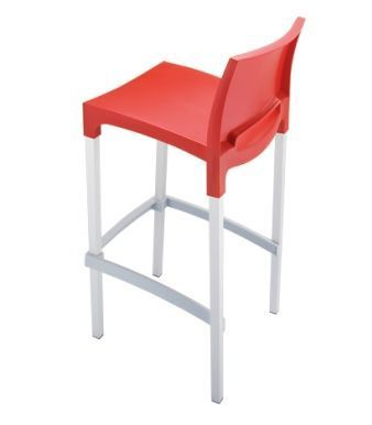 Geo High Stool Red Rear