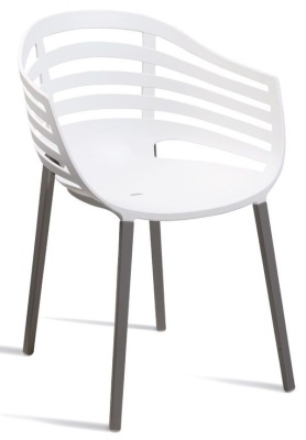 Kirby White Outdoor Plastic Chair