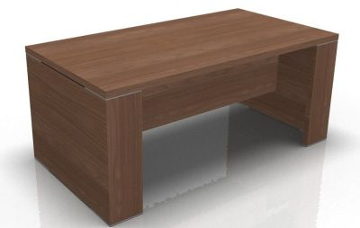 Odessa Executive Desk With-panel Sides And Modesty-panel In-amber-walnut