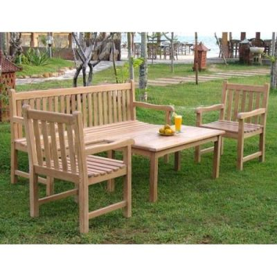 Welbec Outdoor Teak Coffee Set Install 2
