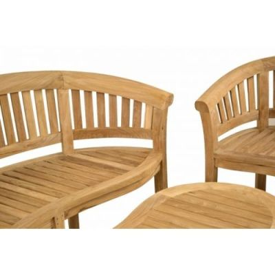 Hungerford Outdoor Teak Coffee Set Close Up