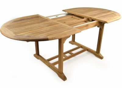 Harvey Outdoor Teak Table Open