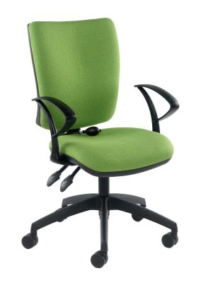 Icon Plus Computer Chair In Green With Pump Up Lumbar Support For Lower Back Support