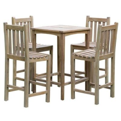 Dover Teak High Stool Dining Set
