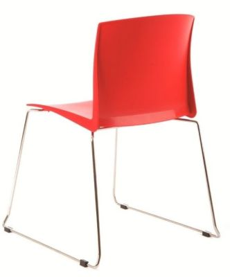 Stack HD Multipurpose Seating In Red From Behind