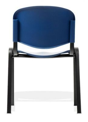 Club Poly Chairs In Blue From Behind