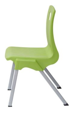 Stylus Poly Education Chair In Green Side View