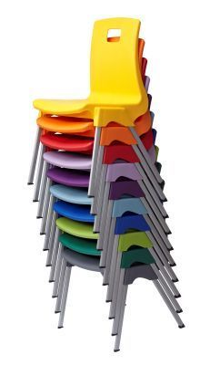Stylus Poly Education Chair In Mulitiple Coulours