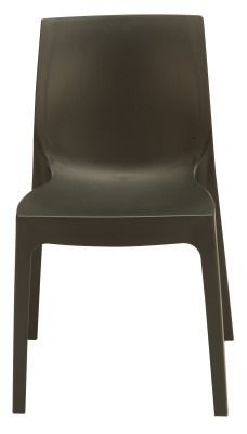 Presto Contemporary Poly Chair Black View From The Front