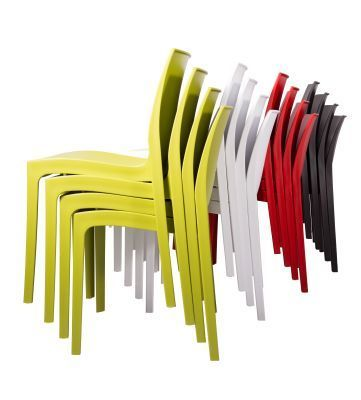 Presto Contemporary Poly Chairs Stack From The Side