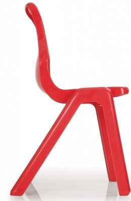 Titan One Piece Poly Chair In Red From The Sider