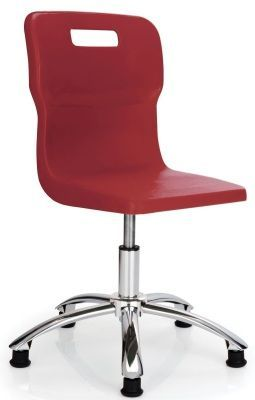 Titan Poly Swivel Chair In Red