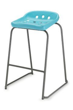 Pepperpot Laboratory Stools In Blue