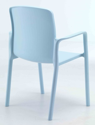Titan Plus Light Blue Poly Armchair Rear View