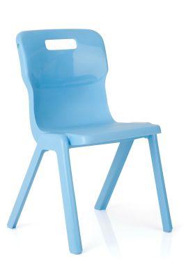 Titan Plus Anti Bacterial Classroom Chairs Cornflower Blue