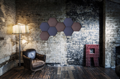Tansad Hexagonal Acoustic Wall Tiles In Situ