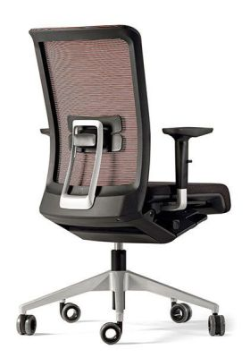 Designer Office Chair With Lumbar Support, Forward Seat Slide For Tall Users