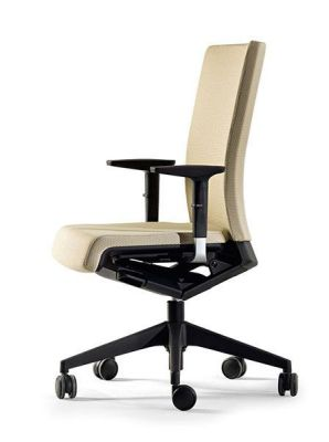 Designer Winner Beige Upholstered Executive Chair With Aut-braking Castors