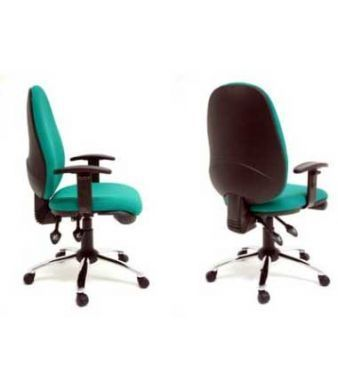 Eric Computer Chairs In Green With Swivel Bases On Castors And T Arms