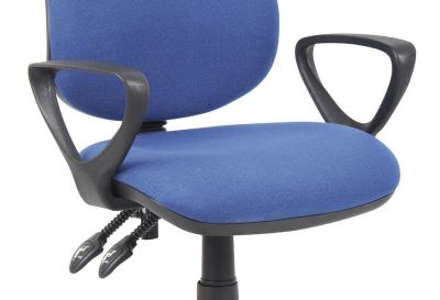 Buster Operator Chair In Blue With Fixed Heavy Duty Polyurethane Arms