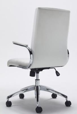 Berasi White Leather Exec Chair Rear View