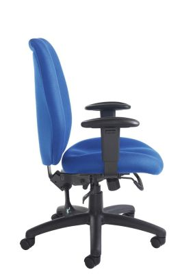 Truro Managers Task Chair With Arm Supports And Fully Adjustable In Blue
