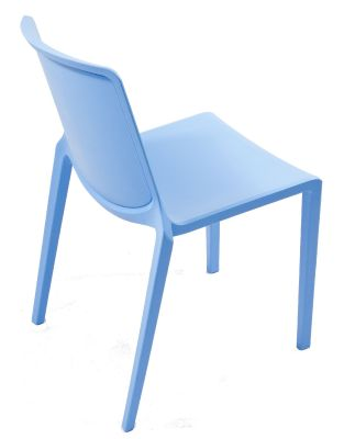 Plaza Stackable Plastic Chair In Light Blue