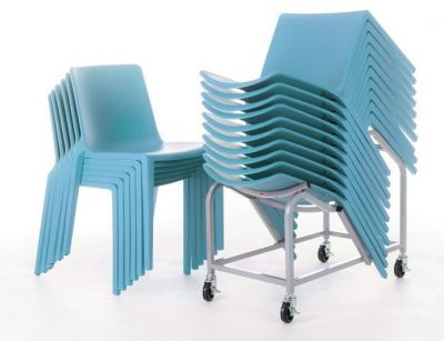 Plaza Chairs With Dolly In Light Blue