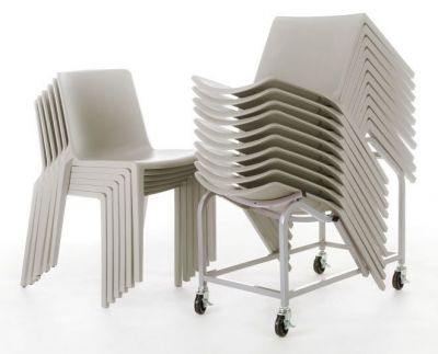 Plaza Chairs And Dolly In Grey