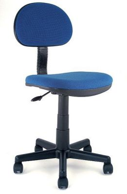 Marina Blue Office Chair With Spider Base And Castors And Flexiable Back Rest