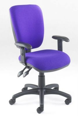 Icon Medium Back Purple Desk Chair With Arm Supports