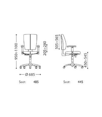 Cinque Operator Chair Specifications