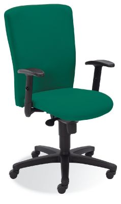 Bolero Task Chair In Green Fabric With Black Spider Base
