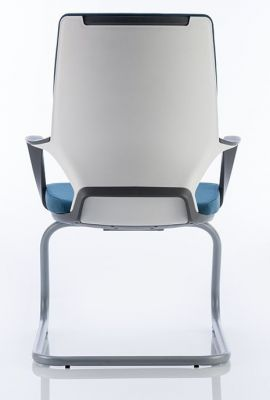 Xenon Cantilever Chair Showing White Polymer Back
