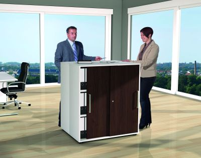 Remo Cabinets As Standing Meeting Table