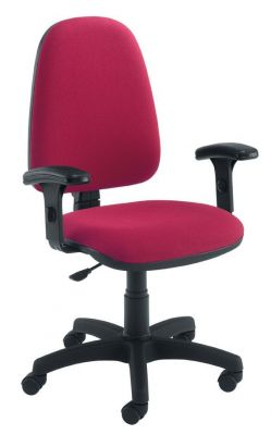 Swift Wine Colour Value Operator Chair With Armrests And Swivel Base