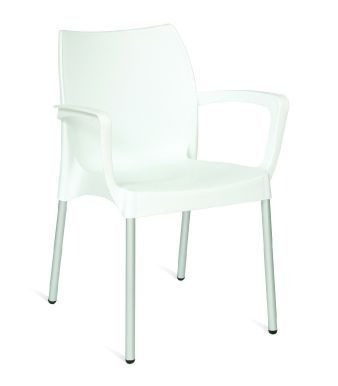 Romania Outdoor Poly Chair White